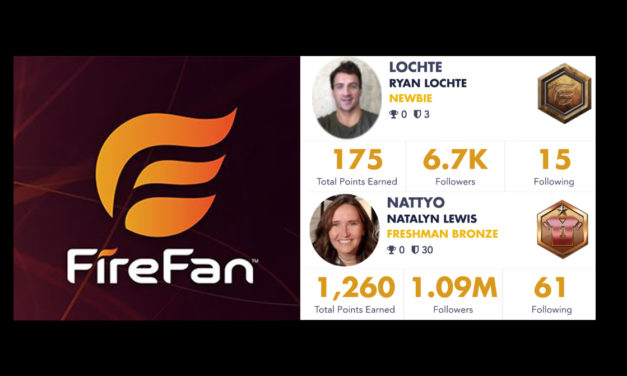 Ryan Lochte and Marketing VP Natalyn Lewis Join in FireFan Cowboys vs Vikings Thursday Night Game