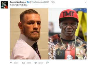 Conor McGregor on Twitter